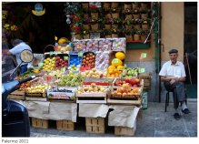 Old man by the fruit market, Palermo - Sicily