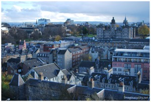 Edinburgh from the castle