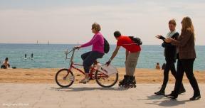 biking or walking
