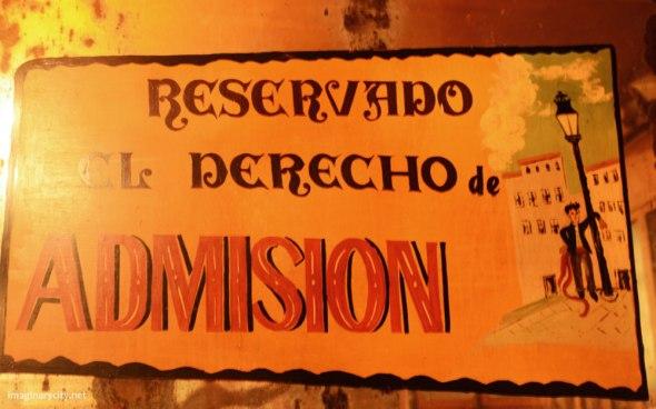 Reservado el derecho de admisión