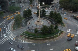 Columbus circle from the MAD