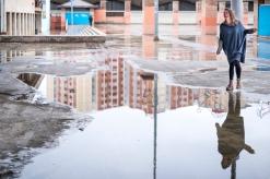Tati Finchi through the water reflection